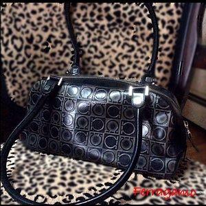 """Salvatore Ferragamo Logo mini satchel  11""""x 5 1/2"""""""